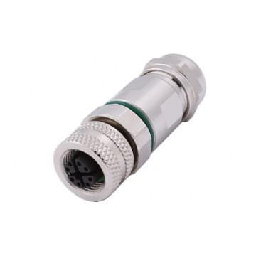 8芯母直头金属装配式圆形连接器