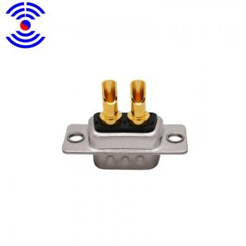 D-subl车针 2W2公焊线 大电流连接器